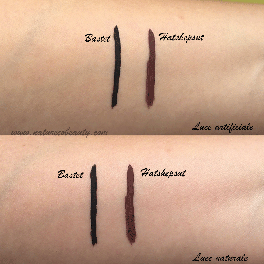 ink me neve cosmetics swatches due passate